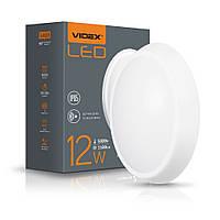 LED світильник IP65 овальний 12W 5000K білий сенсорний VIDEX, фото 1