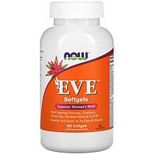 """Мультивітаміни для жінок NOW Foods """"EVE Superior women's Multi"""" (180 гельових капсул)"""