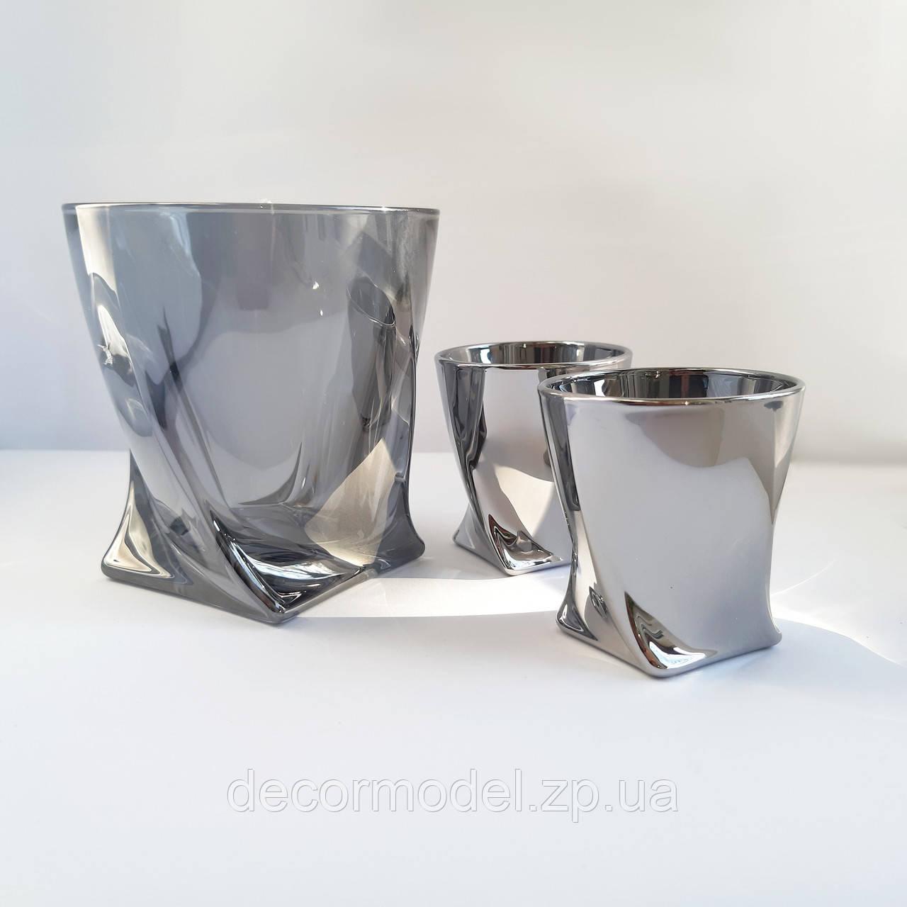 Набор стаканов Bohemia Quadro 2 шт 340 мл 2K936/99A44/340/2 графит