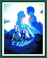 Купол любви Набор для вышивки крестом с печатью на ткани 14ст