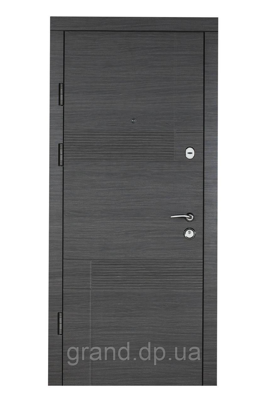 Двери входные металлические Булат К6 LX  850*2050/950*2050 411/190 бетон темный ( вс ДШ графит)/дуб шале седой