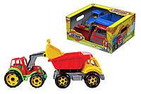 """Набор """"Стройтехника"""" (машинка грузовик и экскаватор) 3459, фото 1"""