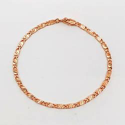 """Браслет """"Замочки"""" SONATA з медичного золота, позолота 18К, 52095 (20 см)"""