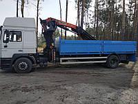 Перевозким по Киеву области грузовиком с краном манипулятором Битовки