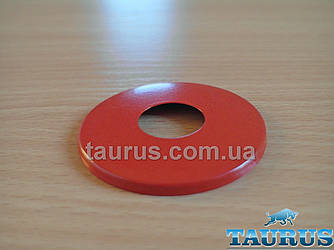 """Красный плоский декоративный фланец, размер D61 мм, высота 5 мм.; под внутренний размер 1/2"""" (20 мм); Латунь"""
