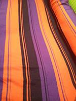 Ткань в полоску оранжево фиолетовая (уценка, сток, распродажа склада 50% от цены! Николаев ) 20 метров*175 см