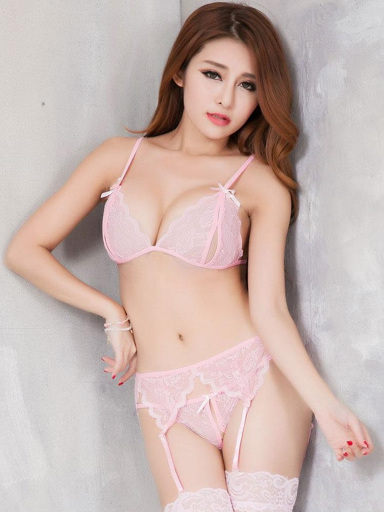 Эротический комплект Габби нежно-розовый цвет