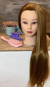 Набір голова навчальна для перукарів з гребінцем і крабиками
