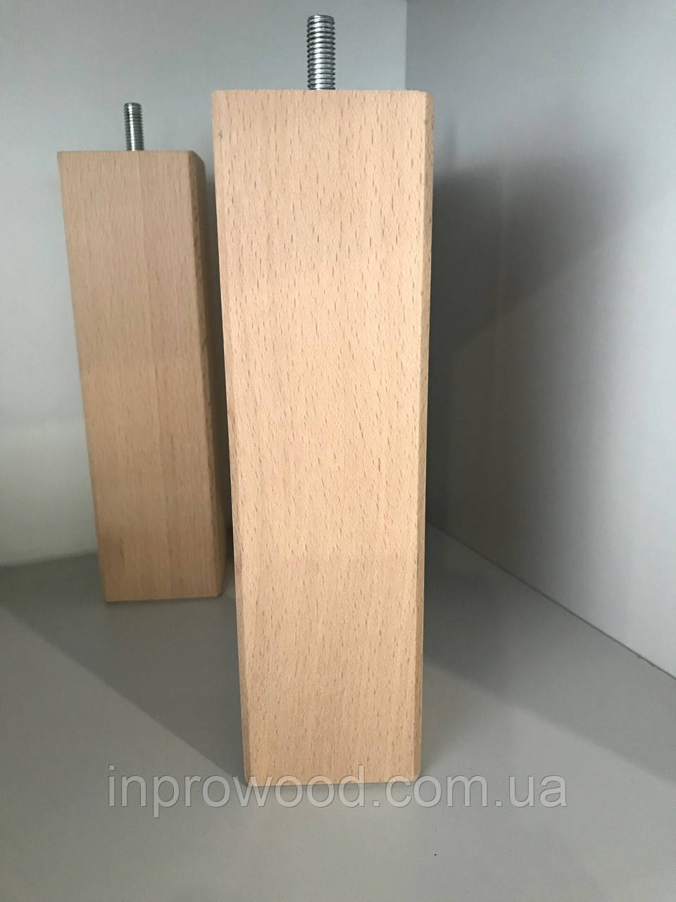 Деревянная мебельная ножка, мебельная опора БУК 200 мм квадратная