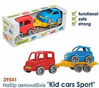 Набор машинок (автобус, гольф кар и прицеп) 39541