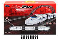 """Железная дорога """"Rail Track"""", 28 элементов + поезд 4110"""