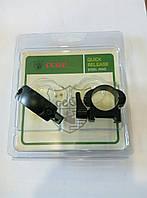 Кольца для крепления оптики 25 мм, на вивер, стальные быстросъемные