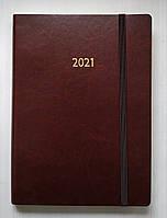 Ежедневник датированный 2021г. А5 на резинке