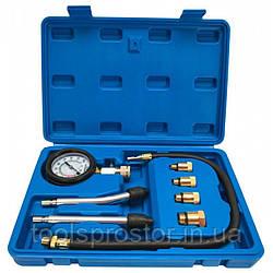 Компрессометр бензиновий універсальний VERKE V86253 : Діапазон вимірювань 0-20 bar