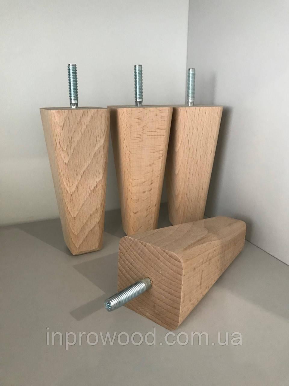 Дерев'яна меблева ніжка, меблева опора Дуб 200 мм
