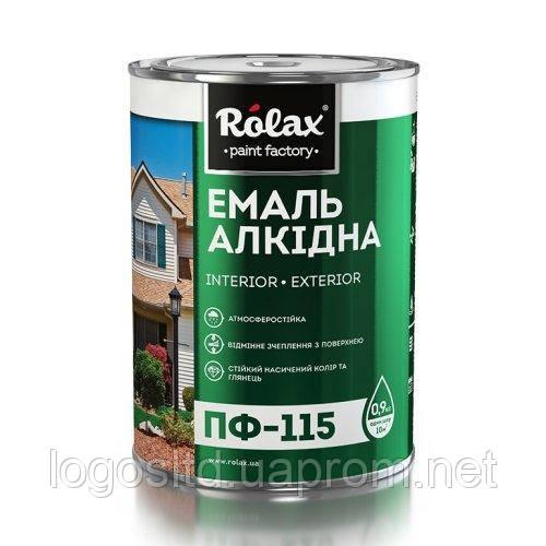 Эмаль алкидная ПФ-115  черная 0.25кг  Ролакс