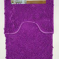 Набор ковриков в ванную комнату из микрофибры лапша ''ROOM MAT'' фиолетовый 60х90см. и туалет 40х60см.