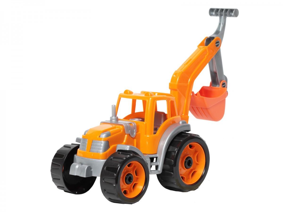 Трактор с ковшом ТехноК (оранжевый) 3435
