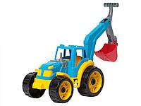 Трактор с ковшом ТехноК (синий) 3435