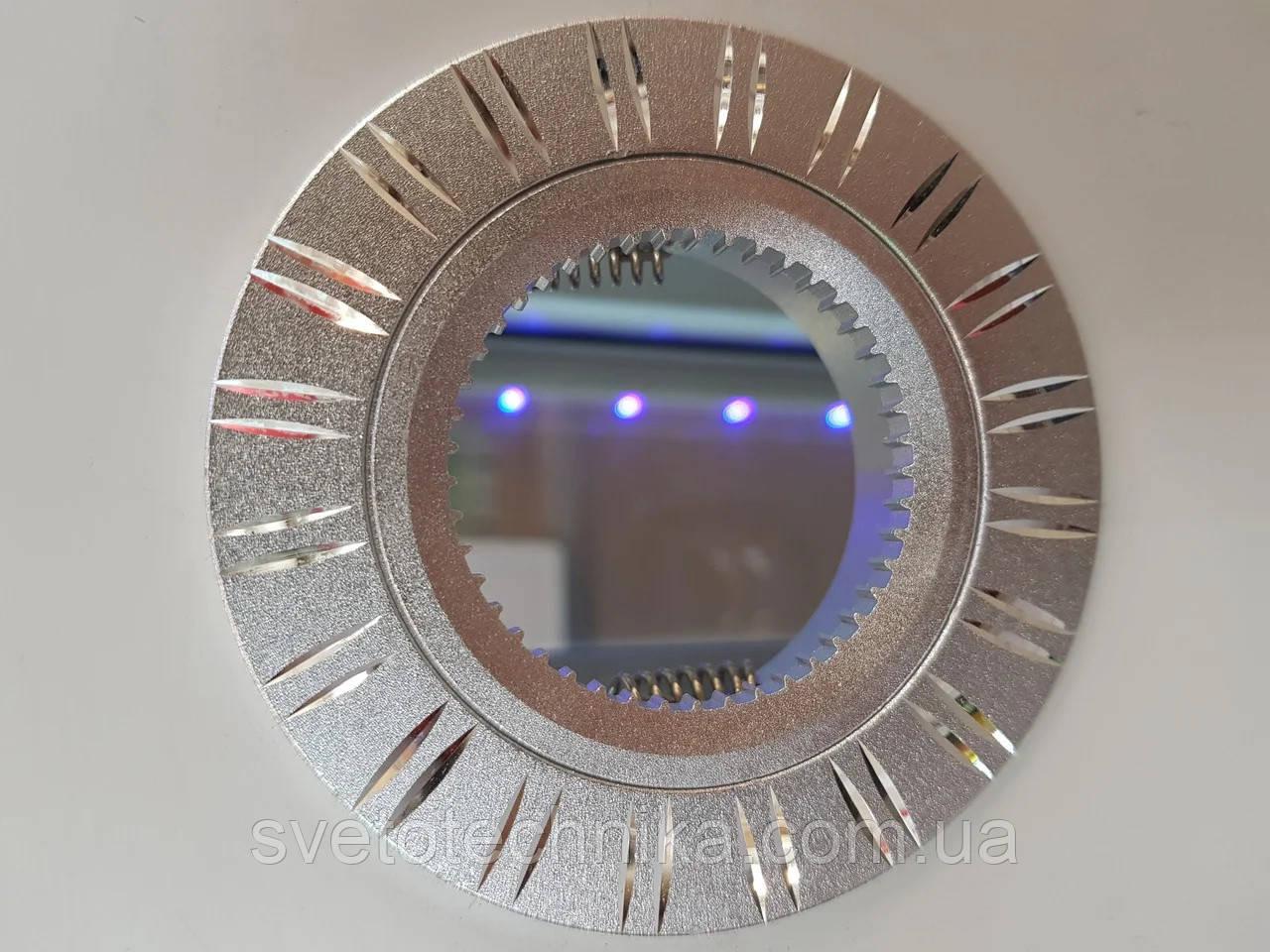Светильник LNV  (цвет корпуса серебро) встраиваемый неповоротный