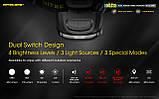 Налобный фонарь с универсальным питанием NITECORE NU35 (460LM / 10 режимов / 590 mAh+3*AAA / USB Type-С), фото 3