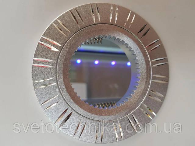Светильник  (цвет корпуса серебро) встраиваемый неповоротный