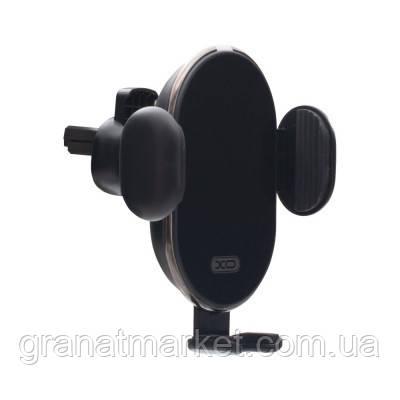 Автодержатель XO WX013 Auto Mounted Wireless Charger Цвет Чёрный