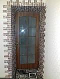 Декоративна 3D панель самоклейка під цеглу сірий Катеринославський 700х770х5мм, фото 4