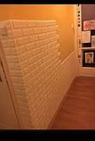 Декоративна 3D панель самоклейка під цеглу сірий Катеринославський 700х770х5мм, фото 6