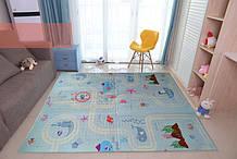 """Детский складной развивающий термо коврик """"Африка + Океан"""" 180*120*10мм"""