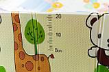 """Детский складной развивающий термо коврик """"Мишка на велосипеде + Ростомер"""", фото 5"""