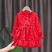Платье для девочки красное 4914