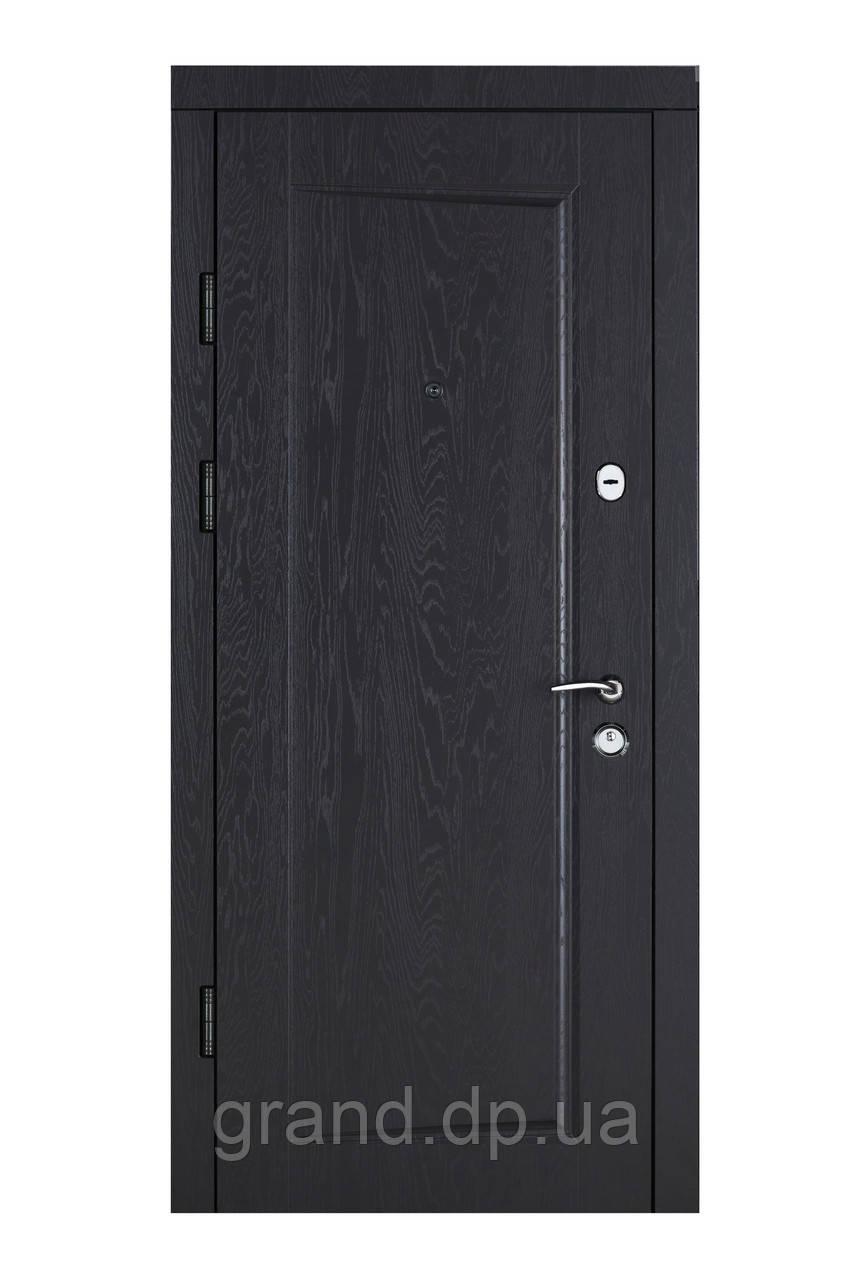 Двери входные металлические Булат К6 LX  850*2050/950*2050 218 дуб графит/белая текстура