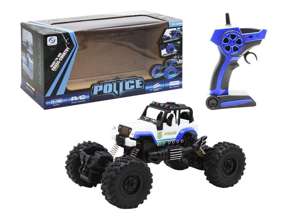 """Машинка на радиоуправлении """"Police"""", белый 689-1A"""