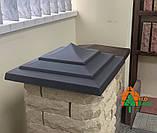 Крышки для забора Руст. Размер, мм – 450х450 мм, фото 2