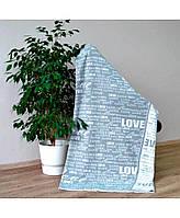 Плед вязаный Big Love серый