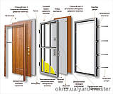 Двери входные металлические Булат Артиз  850*2040/950*2040 Уличная медный антик/венге темный, фото 5