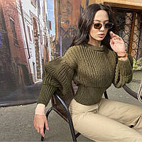 Женский вязанный свитер. Модель 8764, фото 9