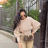 Женский вязанный свитер. Модель 8764, фото 2