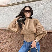 Женский вязанный свитер. Модель 8764, фото 4
