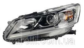 Фара права електро біла вставка Н11+НВ3+LED для Honda Accord 9 2015-17 SDN EUR/USA