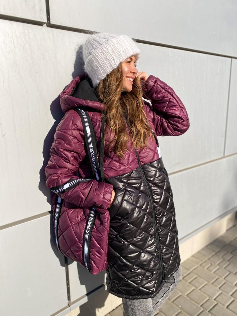 Женская куртка с сумкой (Батал)