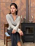 Женская ангоровая блуза с кружевом, фото 3