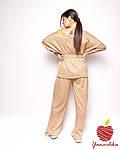 Женский вязаный трикотажный брючный костюм с нитью люрекса (Батал), фото 6