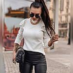 Женская белая кофточка с открытыми плечами, фото 3