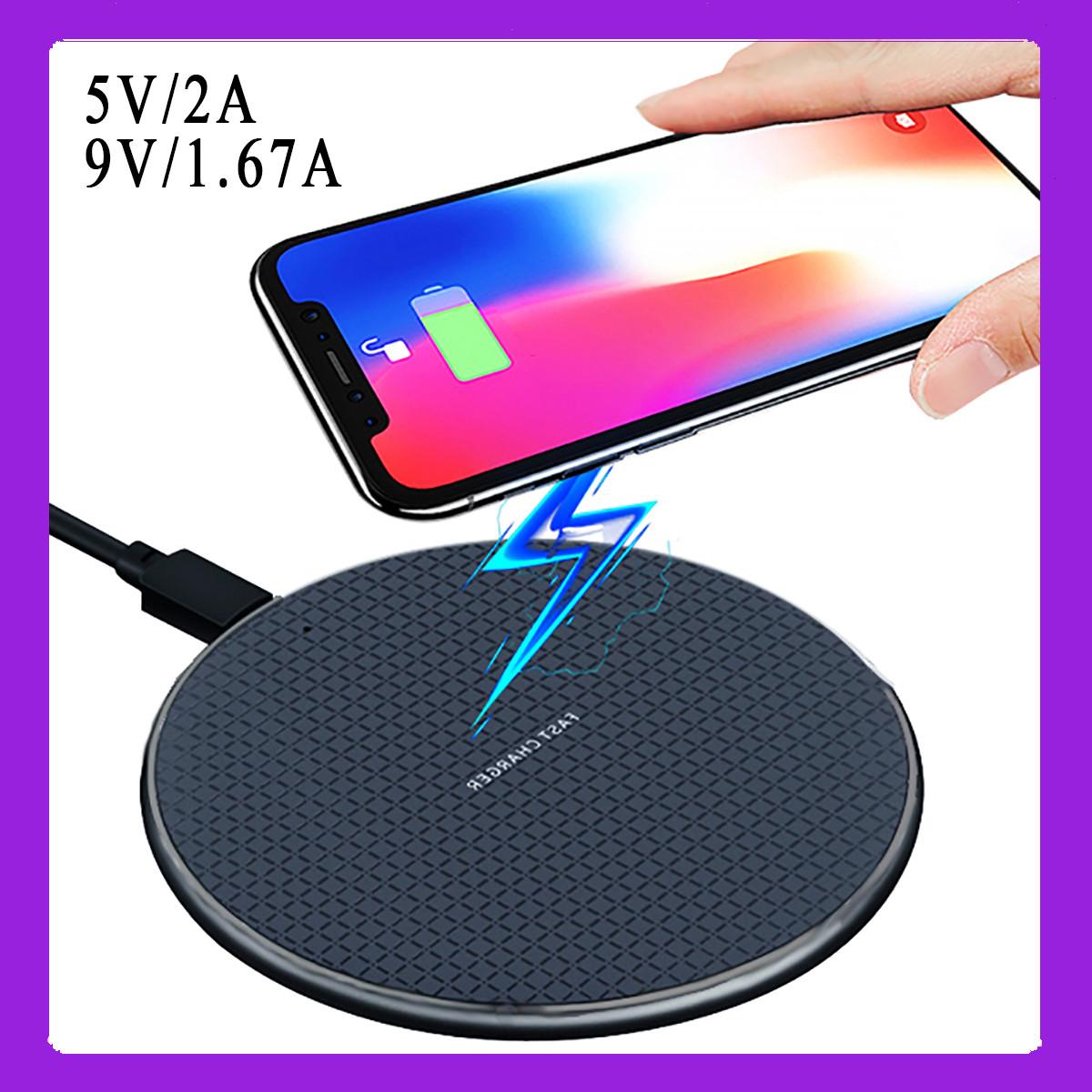 Беспроводная зарядка Wi-smart Fast 1 QI для телефона Iphone, Android с индикатором работы. 10W