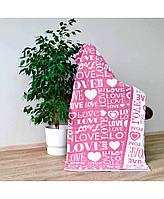 Плед вязаный Big Love розовый