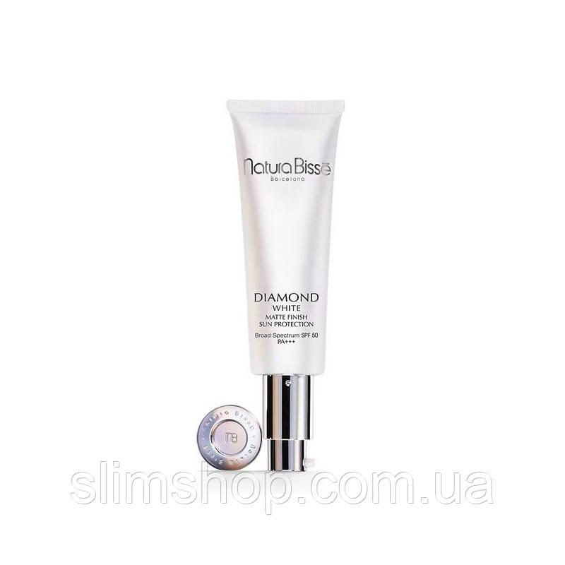 Natura Bisse Diamond White Matte Finish Sun Protection SPF50 PA+++ Осветляющий солнцезащитный флюид
