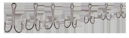 Крючок Kalipso двойник 2001BN №1 (50шт)