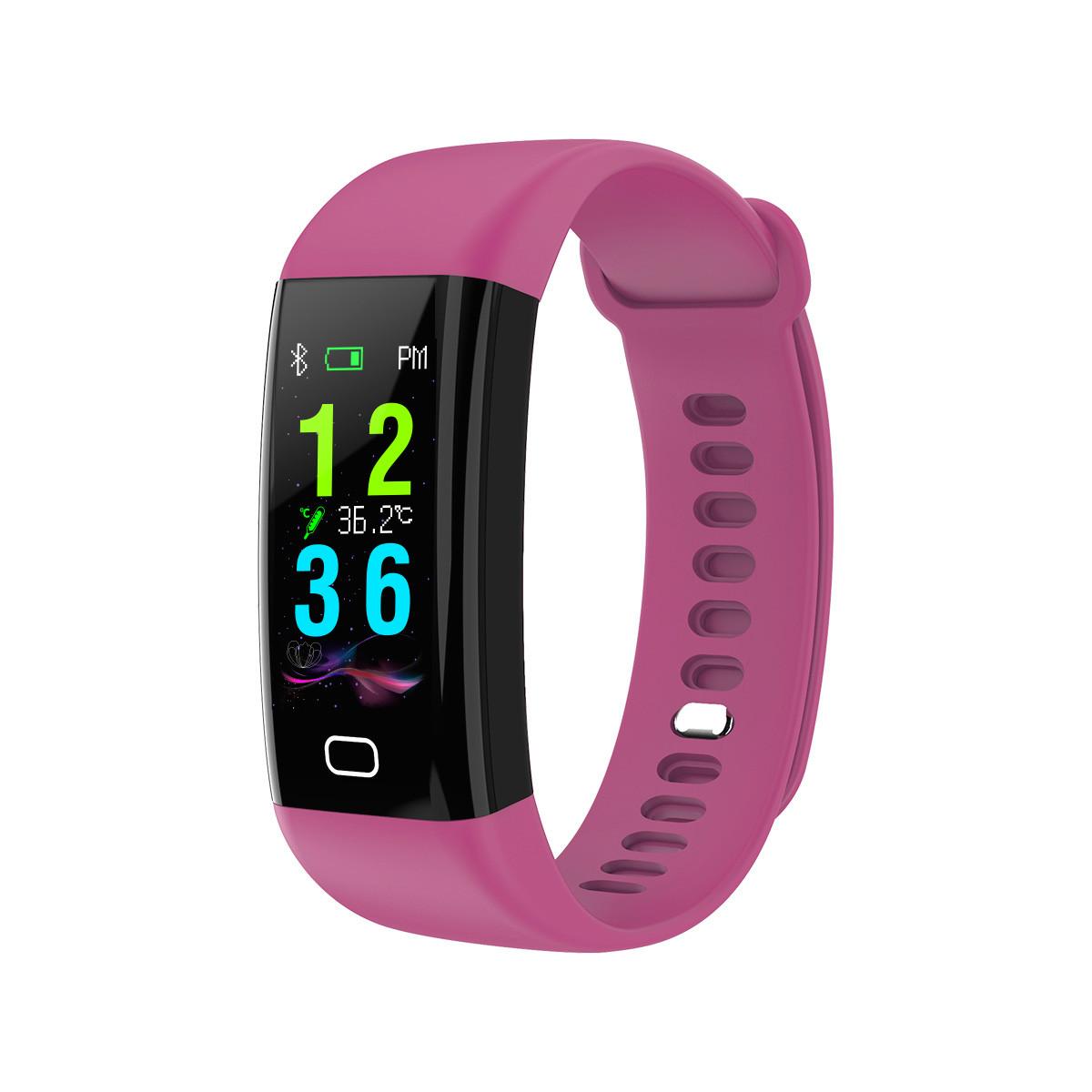 Умный фитнес браслет Lemfo F07 Health с измерением температуры (Фиолетовый)